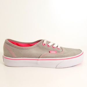 Vans Grey Canvas and Pink Sole  Sz M-6 / W- 7.5